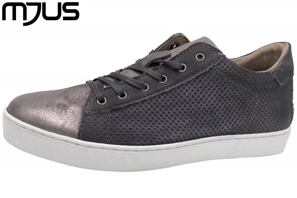 MJUS Damen Sneaker Grau Metallic