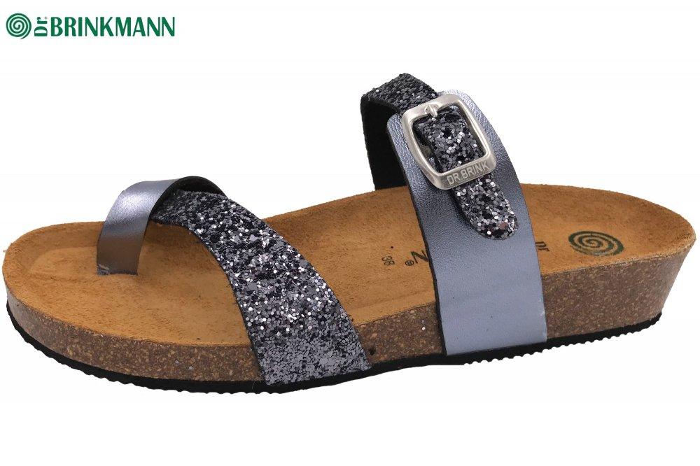 Dr Brinkmann Damen-Pantolette grau 9
