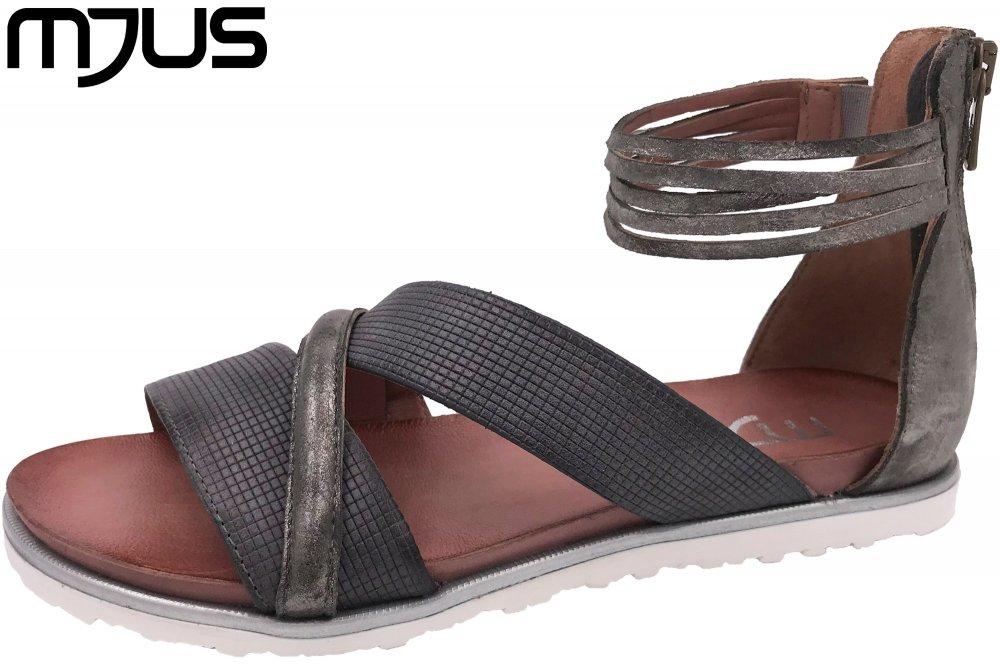 MJUS Damen Sandale Grau Metallic