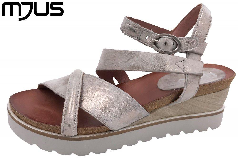 MJUS Damen Sandale Taupe Metallic
