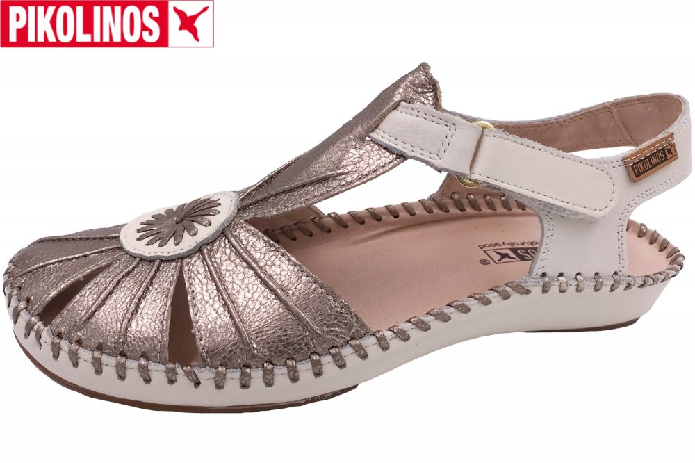 Pikolinos Puerto Vallarta Damen Sandale Silber