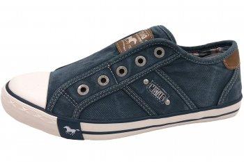 MUSTANG Damen Sneaker Grün Blau Halbschuhe Canvas Slipper 1099-401-87