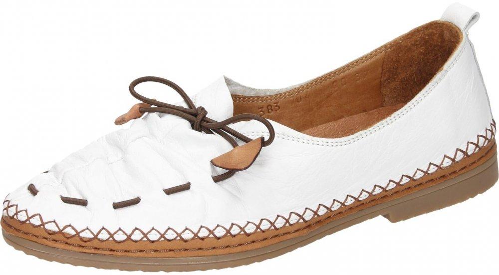 Manitu-Damen Damen-Slipper Weiß 840755-3, Grösse 36