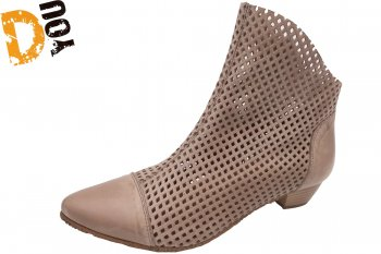 Double You Damen Stiefelette Beige