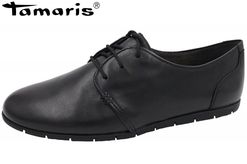 Halbschuh Schuhe 1 Schwarz Tamaris 1lkfjc Leder Elfi