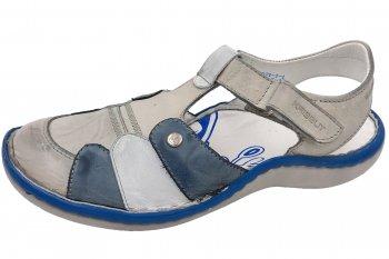 Krisbut Damen Sandale Blau Creme