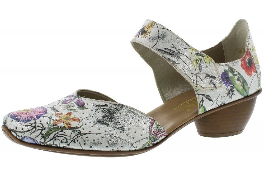 separation shoes db119 94d01 Rieker Damen Pumps Weiß Bunt