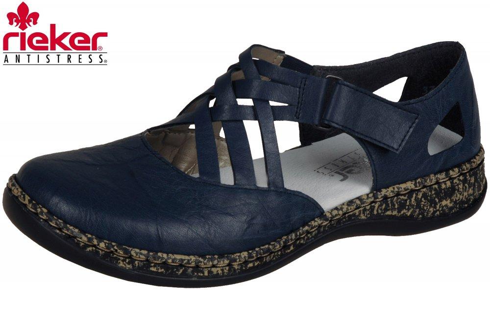 Details zu Rieker 46363 14 Schuhe Damen Halbschuhe Ballerinas Sandalen