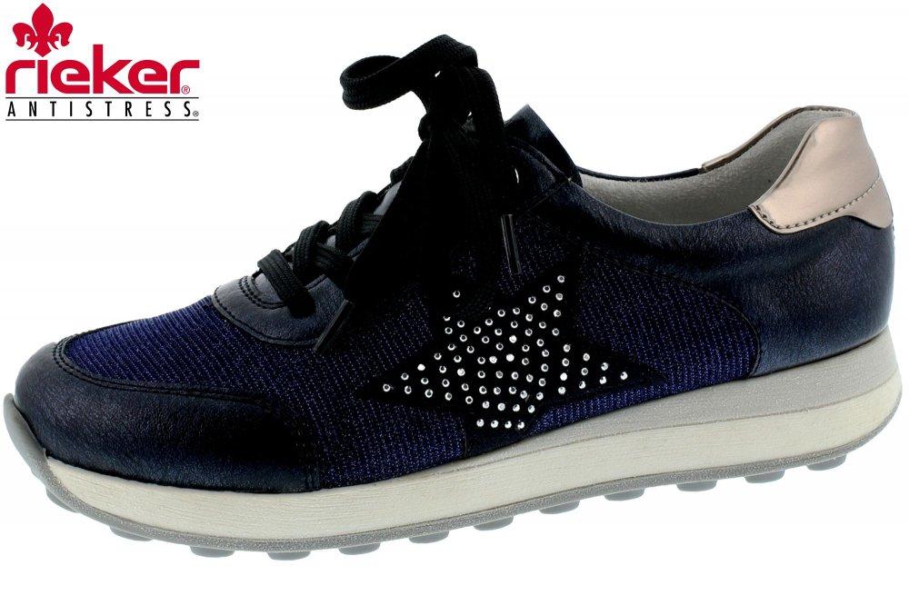 Rieker Damen Sneaker Blau