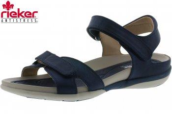 Rieker Damen Sandale Blau