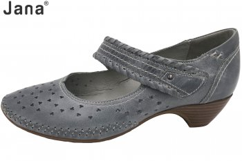 Jana Damen Pumps Grau