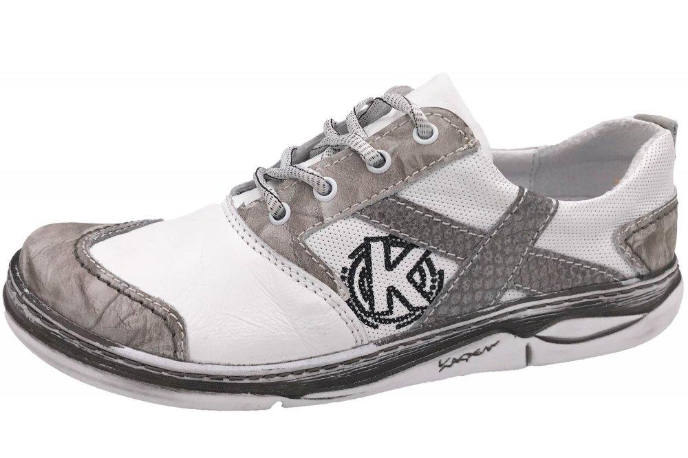 Kacper Damen Schuhe Weiß Grau