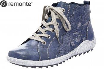 97b8ca3fe33fa4 Remonte Damen Sneaker High Blau