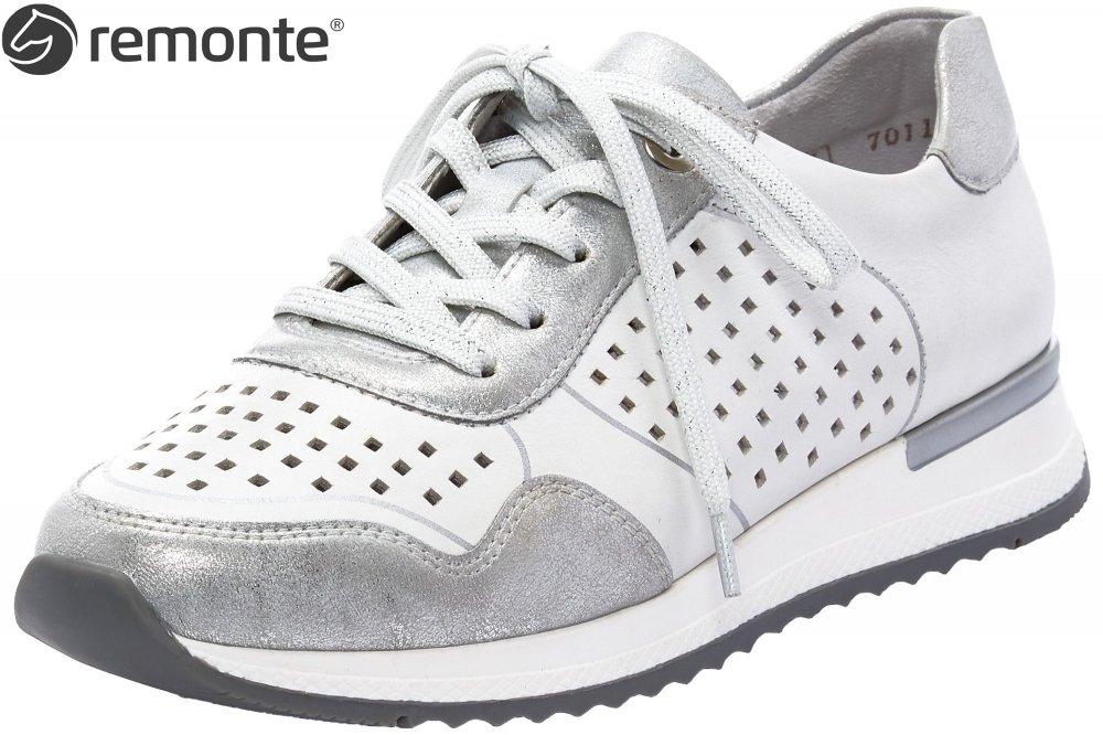 Remonte Damen Sneaker Weiß Silber