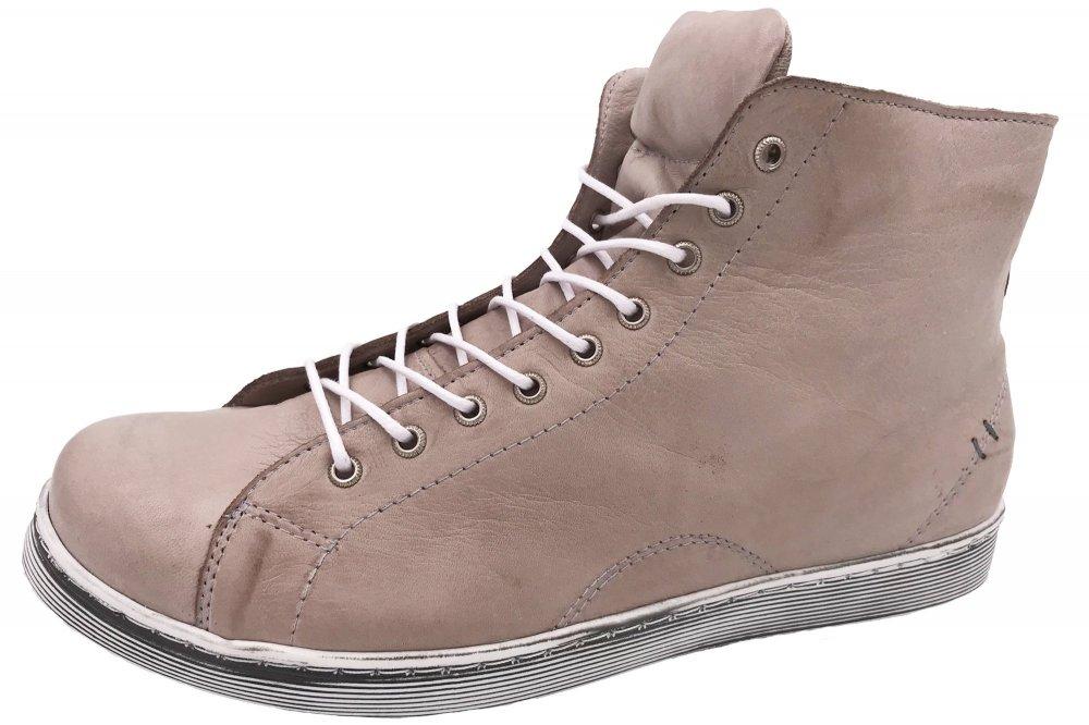 Andrea Conti High Top Sneaker Beige