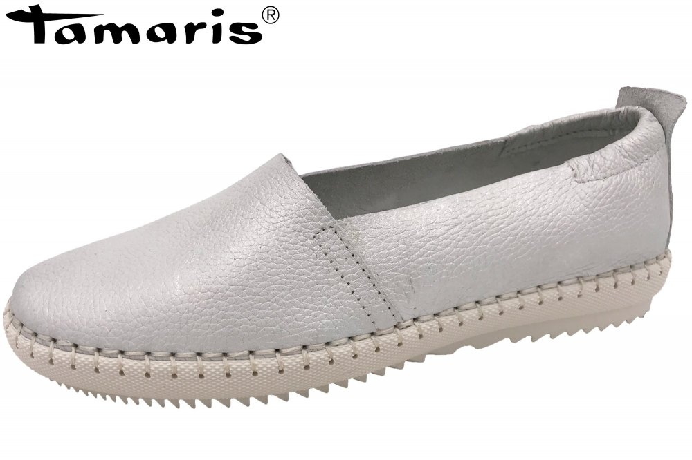 Tamaris Damen Slipper Offwhite