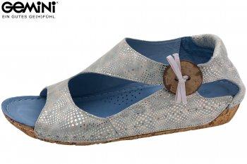 Gemini Damen Sandale Blau Silber