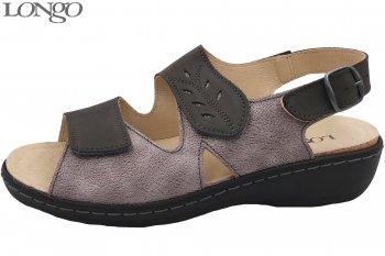 Longo Damen Sandale Taupe