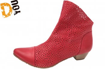 Double You Damen Stiefelette Rot