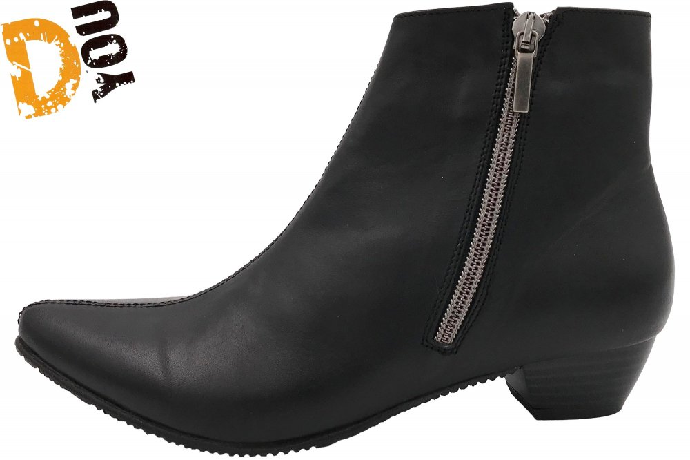 Double You Damen Stiefelette Schwarz
