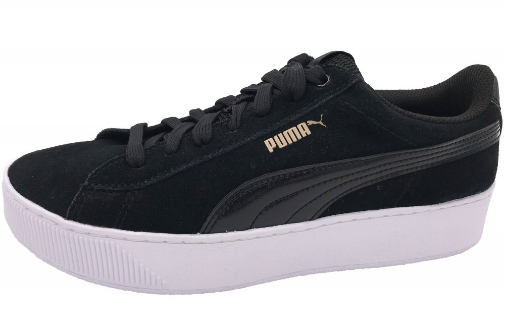 PUMA Damen Sneaker Vikky Platform Schwarz