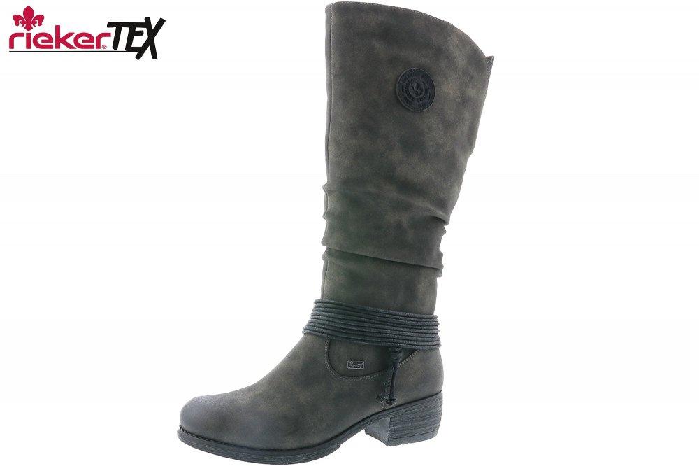 Rieker Damen Stiefel Grau Tex