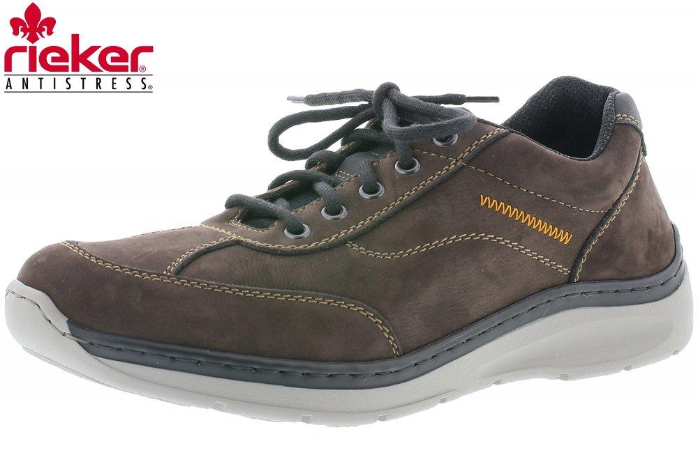 c60a3cda50fd Rieker Herren Sneaker Braun Schnürer Schuhe Leder lose Einlage B8933 ...