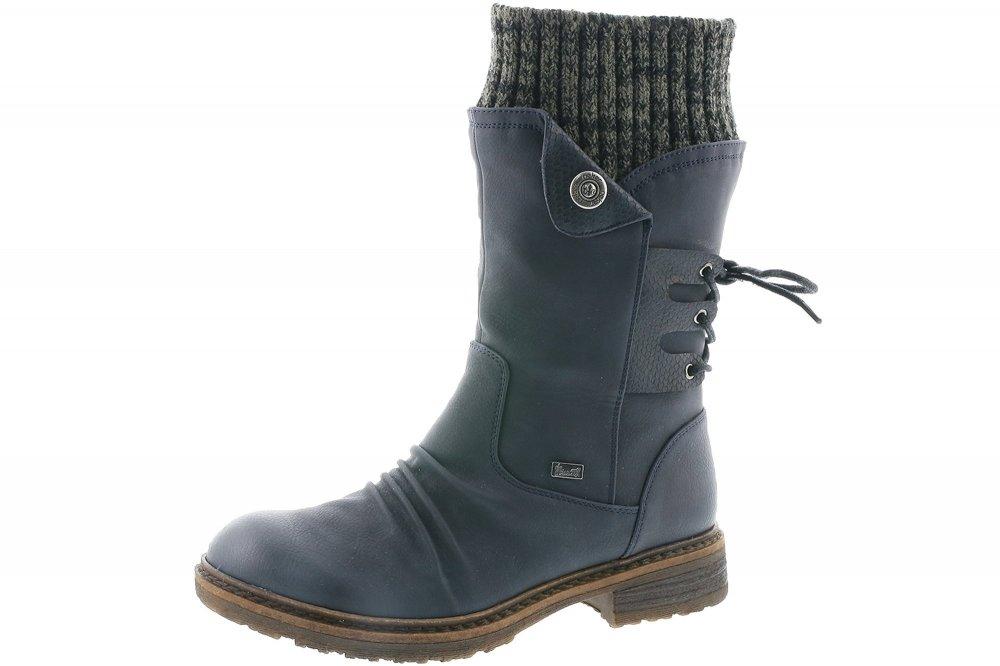 Rieker Tex Damen Stiefel Blau