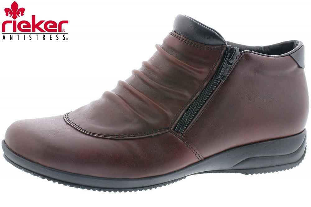 factory price c37f5 de4fb Rieker Damen Schuh Weinrot