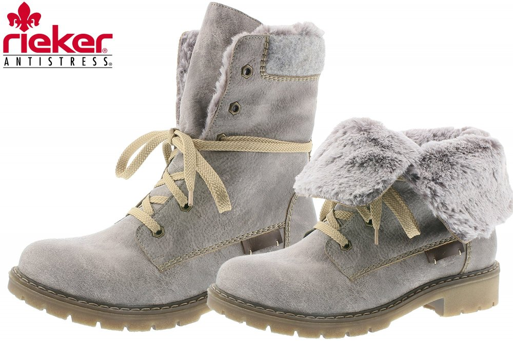 on sale ee061 00b88 Rieker Damen Winter Schuhe Grau