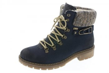 Rieker Tex Damen Winter Schuhe Blau