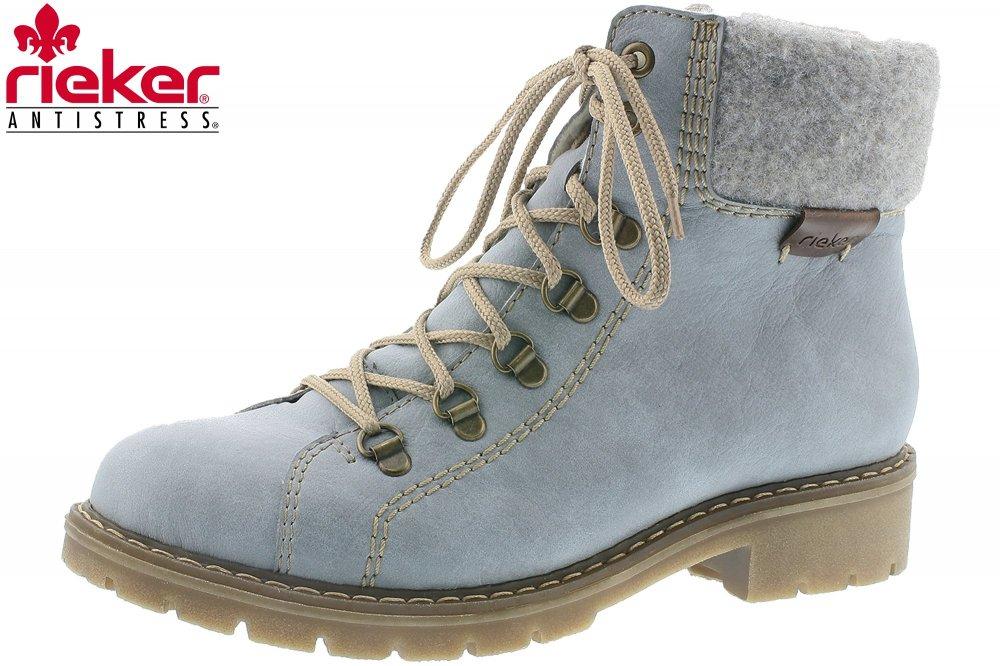 Rieker Damen Winter Schuhe Hellblau