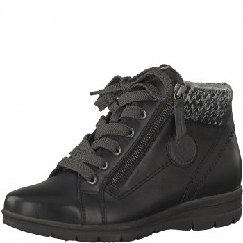 Jana Damen Sneaker High Schwarz
