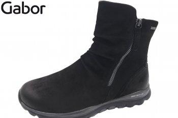 Gabor Damen Boots Schwarz  Tex