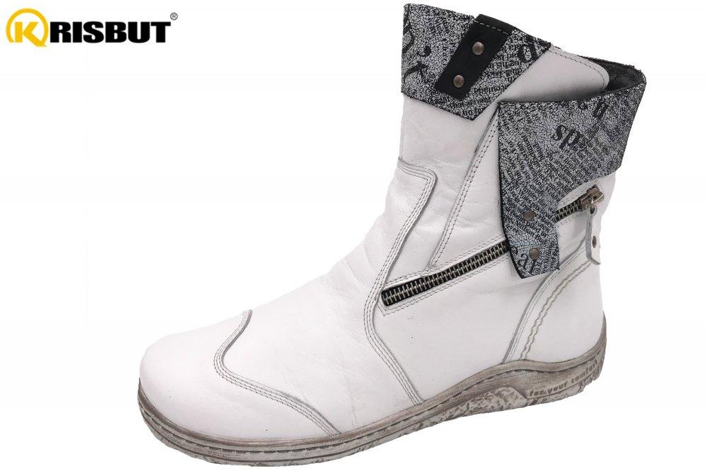 Krisbut Damen Stiefel Weiß