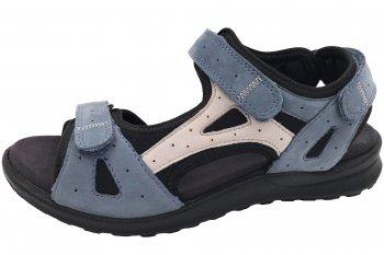 Legero Siris Damen Trekking Sandale Blau/Beige