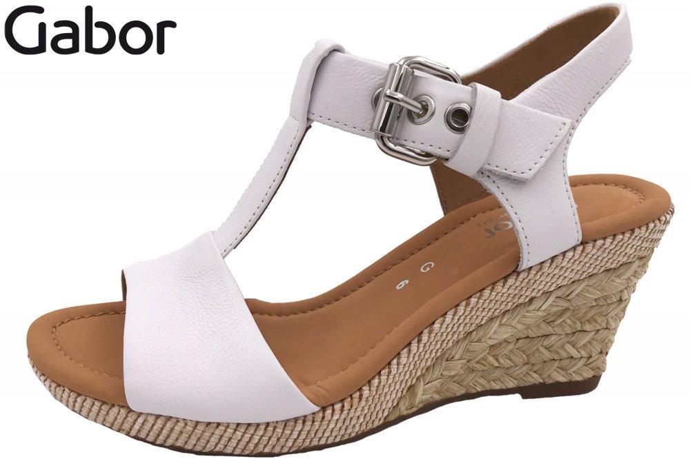 Gabor Damen Sandalette Weiß