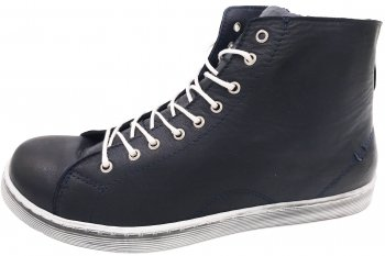 Andrea Conti High Top Sneaker Dunkelblau