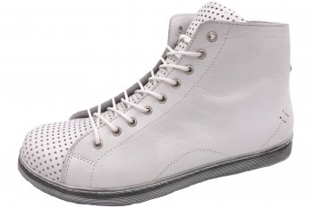 Andrea Conti High Top Leder Sneaker Weiß