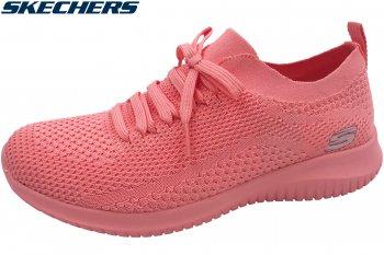 Skechers Ultra Flex Damen Sneaker Rosa