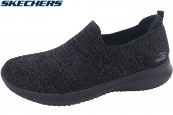Skechers Ultra Flex Damen Slipper Schwarz