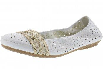 Rieker Ballerina Weiß