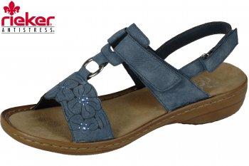 Rieker Damen Sandale Jeansblau