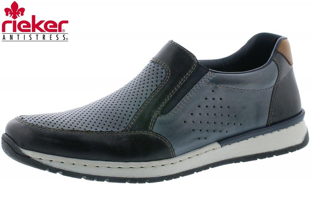 rieker Herren Slipper Blau Schuhe, Größe:43 | real