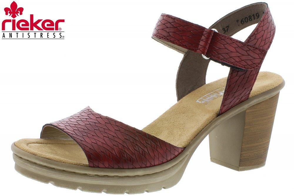 big sale 85be6 4d326 Rieker Damen Sandale Rot