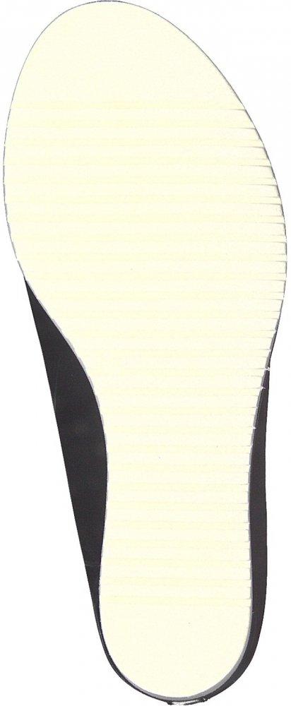 Tamaris Damen 27200-003 Schwarze Glattleder Pantolette