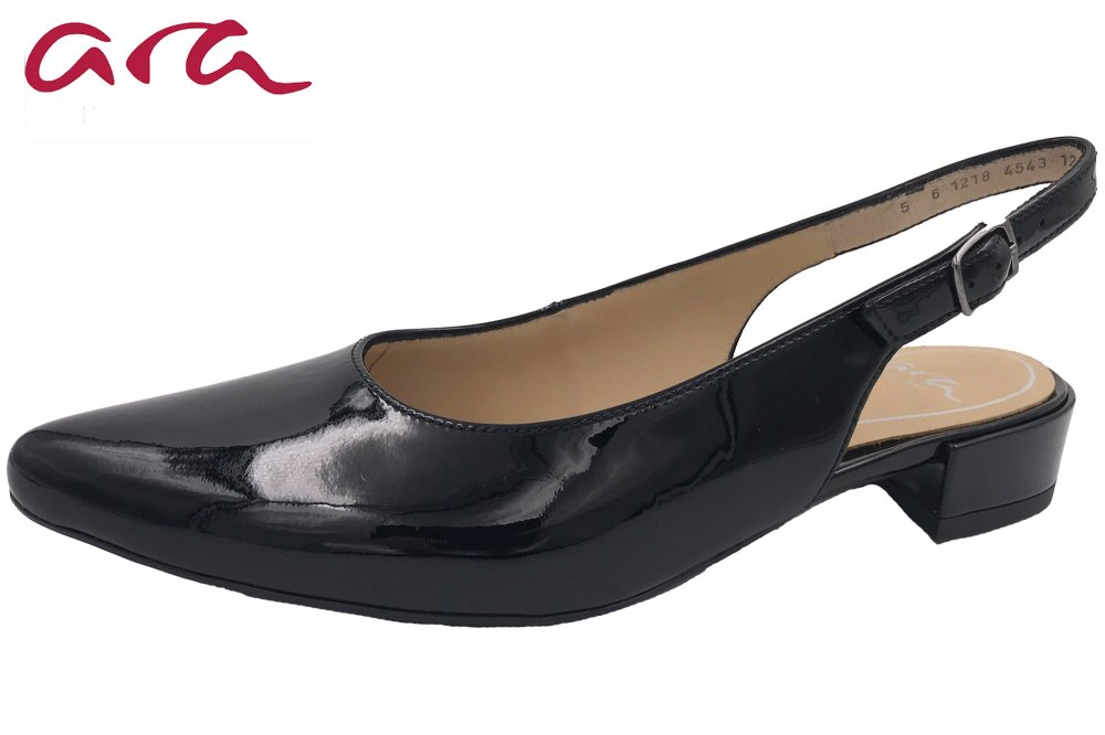 Ara Damen Slingpumps Paris Schwarz