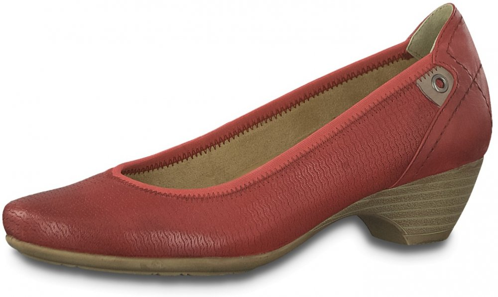 Jana Damen Pumps Rot
