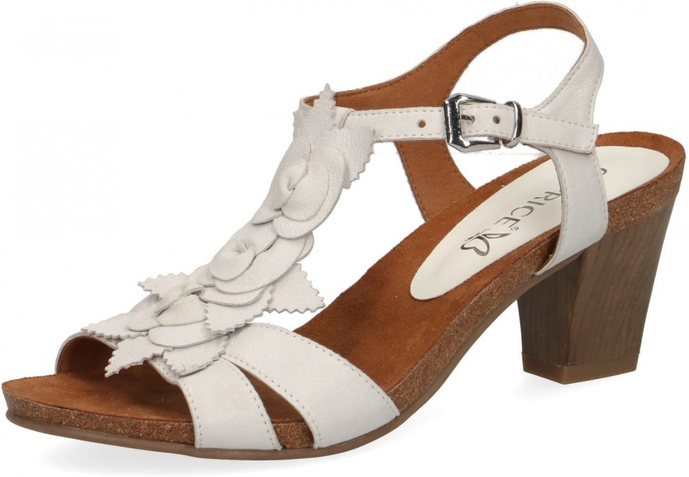 Caprice Damen Sandale Weiß