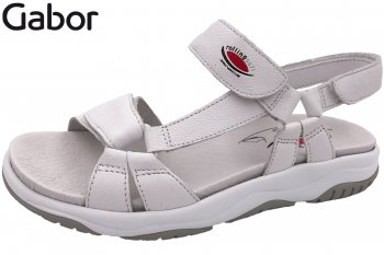 Gabor Rollingsoft Damen Sandale Weiß